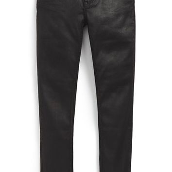 Girl's Burberry Coated Skinny Jeans,