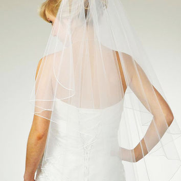 Full Waterfall Veil with Pencil Edge