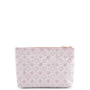 Pink Tile Print Pouch
