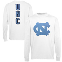 North Carolina Tar Heels :UNC: Distinctive Edge Long Sleeve T-Shirt - White
