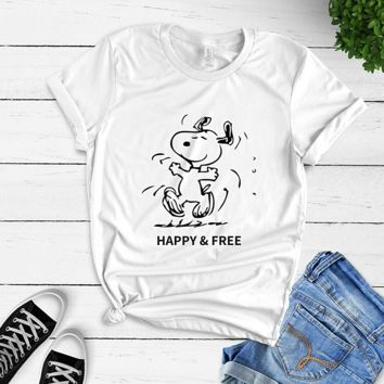 Snoopy Happy & Free T-shirt