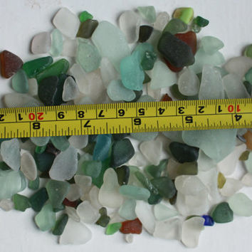 mini sea glass beach glass art&craft supplies jewelry mosaic vase filler supply green white brown, amber aqua sea foam seaglass