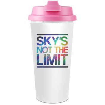 Sky's Not The Limit  Plastic Travel Coffee Cup - 450 ml - Enjoy Your Drinks Everywhere