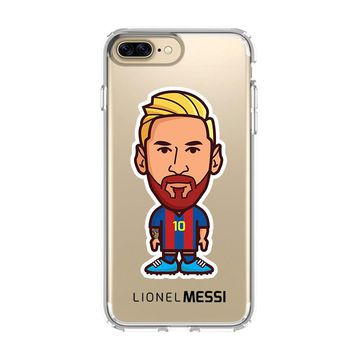 LIONEL MESSI CARTOON BARCELONA iPhone 4/4S 5/5S/SE 5C 6/6S 7 8 Plus X Clear Case