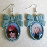 Kurt & Courtney Inspired Cameo Earrings by CalamityJayneDesigns