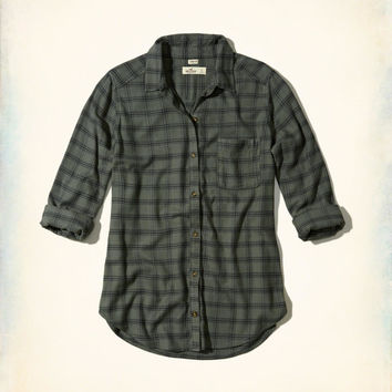 Girls Oversized Flannel Shirt | Girls Tops | HollisterCo.com