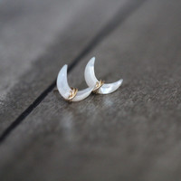 Moonbeam Studs - Mother of Pearl