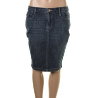 Rachel Roy Womens Denim Pencil Skirt