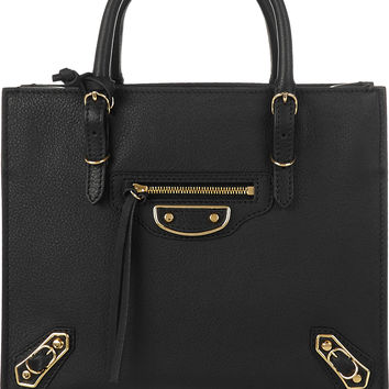 Balenciaga - Papier A4 mini textured-leather tote