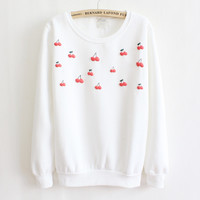 Puffy Cherries Sweatshirt