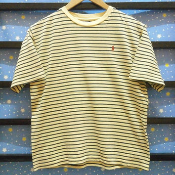 Authentic Vintage 90s || Polo Ralph Lauren stripes t shirt || size S/M