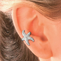 Starfish Ear Cuff in Sterling Silver for the RIGHT EAR.