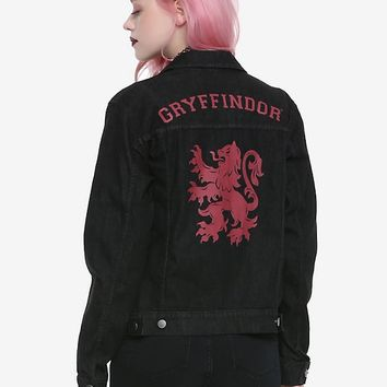 Harry Potter Gryffindor Girls Denim Jacket