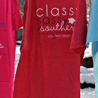 SOUTHERN DARLIN' COLLECTION: Classy, Sassy, Southern Tee