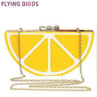 FLYING BIRDS !2015 Popular women handbags Banquet clutch evening bags messenger bags chain shoulder purse fruit style bag LS5495