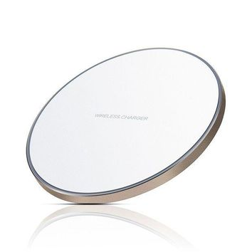 ICIK4S2 Wireless Charger, Antye Aluminum Qi Wireless Charging Pad for iPhone 8/8 Plus, iPhone X, Samsung Galaxy S8/S8 Plus,S7/S7 Edge, S6/S6 Edge, Note 8/Note 5 [Ultra Slim / LED Indicator], White