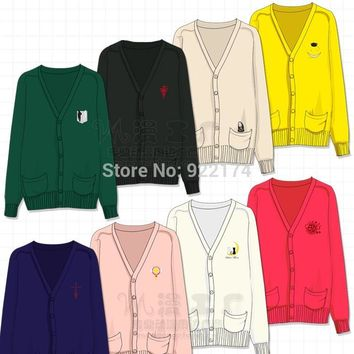 Cool Attack on Titan Anime Sailor moon love live cardcaptor sakura Cosplay Costume  jacket Coat Sweater Button cardigan fantasias AT_90_11