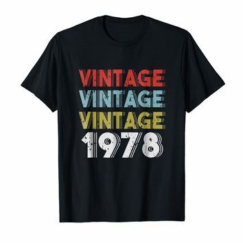 Retro Vintage Born In 1978 - 40th Birthday Gift