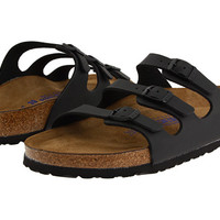 Birkenstock Florida Soft Footbed - Birko-Flor™ Black Birko-Flor - Zappos.com Free Shipping BOTH Ways