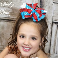 Large Sequin Boutique Hair Bow