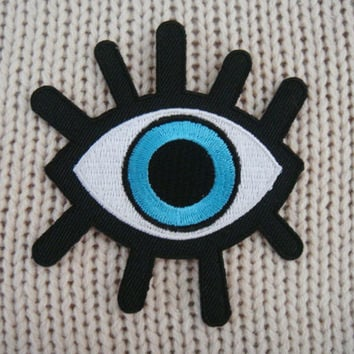 Eye Patch Applique Embroidered Iron on Patch