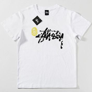 Trendsetter Bape X Stussy Women Men Fashion Casual Shirt Top Tee