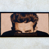 James Dean woodburned art by BaconFactory on Etsy