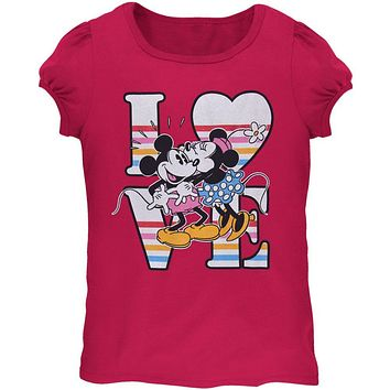 Minnie Mouse - Love My Mickey Juvy Girls T-Shirt