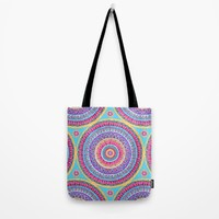 Summer Burst Mandala  Tote Bag by Sarah Oelerich