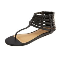 Caged T-Strap Mini Wedge Sandal: Charlotte Russe