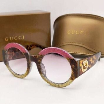 CREYV9O GUCCI Popular Ladies Men Summer Colorful Frame Sun Shades Eyeglasses Glasses Sunglasses I-8090-YJ
