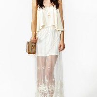 Monterey Lace Maxi Skirt
