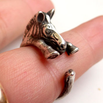 925 Sterling Silver Ring Zebra Ring COOL Animal Ring, Best Selling Animal Jewelry, Children's Jewelry Sizes 4, 5, 6, 7, 8, 9