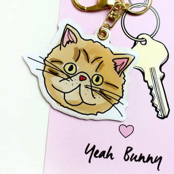 Cat Face - Keychain