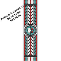 Zuni Sun God Bead Loom or Square Stitch Pattern - PDF - Tribal - Native American Inspired - Beaded Cuff Bracelet - Commercial Personal Use