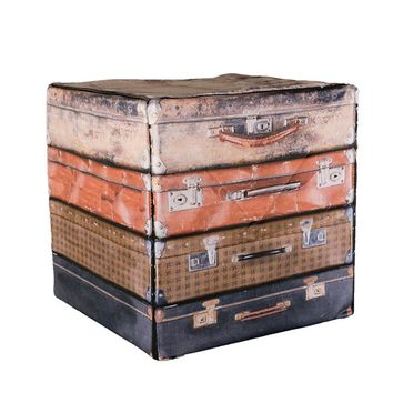 Suitcase Stack Wooden Cube Cover Photography Prop - CUBE9