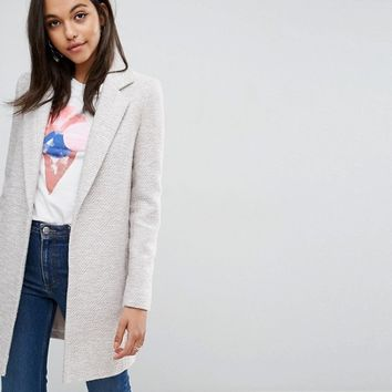 ASOS Slim Coat In Texture at asos.com