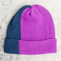 Verloop Bright Side Midnight Blue Magenta Cuff Hat