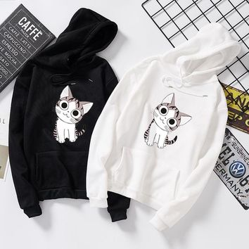 DeRuiLaDy Fashion New ladies Hoodie 2019 Autumn And Winter Printing Hoodie Casual Sweatshirt ladies Pink Hooded Sweatshirt Tops