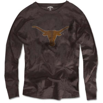 47 Brand Texas Longhorns Vintage Basic Long Sleeve Scrum T-Shirt