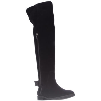 Splendid Polly Slouch Tall Boots - Black Suede