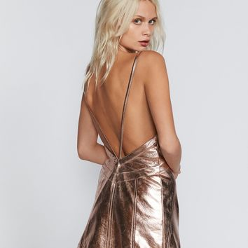 Free People Luna Metallic Mini Dress