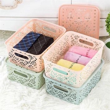 Plastic Storage Basket Box Bin Container Organizer Clothes Laundry Home Holder Newlife Stylese