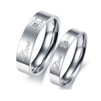 Lock & Key SS Couples Rings - C-RIN-1020