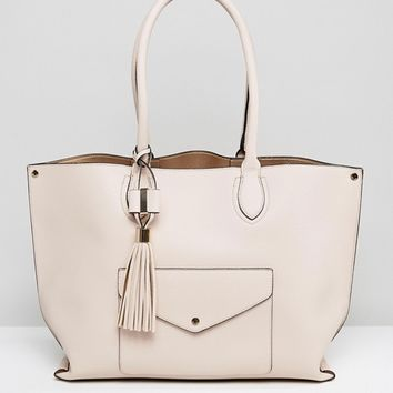 Dune Dockie Tote Bag With Front Pocket at asos.com