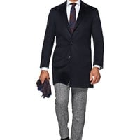 Navy Overcoat J404i | Suitsupply Online Store