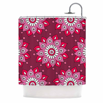 "Sarah Oelerich ""Raspberry Flower Burst"" Magenta Shower Curtain"