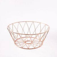 Copper Wire Kitchen Fruit Bowl