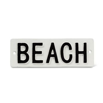 BEACH -- Cast Iron Wall Plaque 7-in