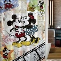 Best Mickey and Minnie Mouse Vintage Custom Shower Curtain 60x72 Inch
